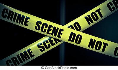escena, crimen