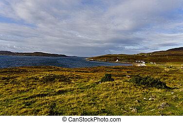 Escena de escoceses en la costa