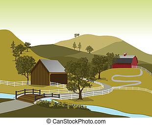 Escena de la granja americana