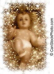 Escena de nacimiento, bebé Jesús