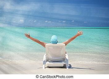 Escena de playa. Exuma, Bahamas