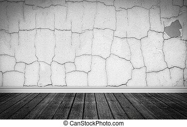 Escena grunge con suelo de madera