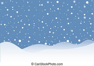 escena, nevoso