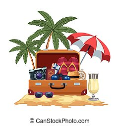 escena, playa, turismo