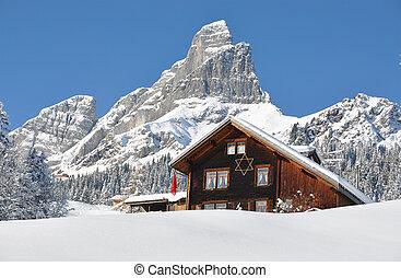 Escenario alpino, Braunwald, Suiza