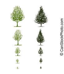 Escenarios de árboles para tu diseño