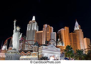 Escenas nocturnas de Las Vegas