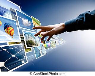 Escogiendo del flujo de imágenes