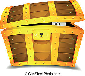 Escondiéndose dentro del cofre del tesoro
