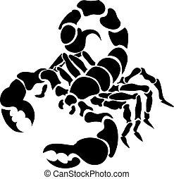 escorpión, ilustración