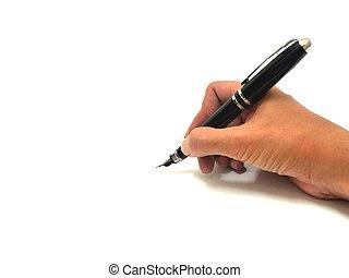 Escribe con pluma