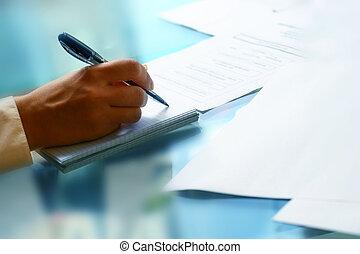 Escribe en nota
