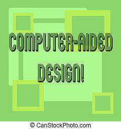 Escribir textos a mano en el diseño ayudado. Concepto que significa diseño industrial CAD usando dispositivos electrónicos.