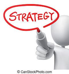 escrito, estrategia, hombre
