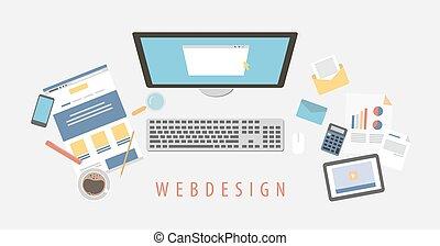 Escritorio de diseño web.