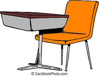escritorio de la escuela
