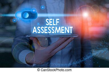 escritura, attitudes., acciones, o, texto, escritura, sí mismo, significado, evaluación, sí mismo, uno, concepto, assessment.