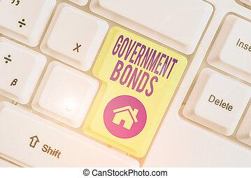 escritura, seguridad, texto, spending., gobierno, issued, concepto, escritura, bonds., significado, deuda, apoyo