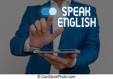 escritura, uso, texto, otro, extranjero, palabra, humano, hablar, concepto, verbal, empresa / negocio, elegante, en línea, trabajo, formal, traje, english., estudio, utilizar, macho, presentación, idioma, cursos, presentación, device.