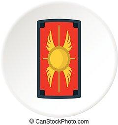 Escudo con círculo de icono de adorno