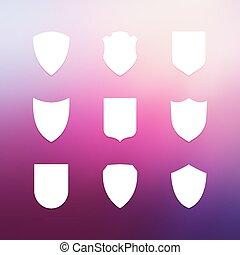 Escudo marcos simples iconos establecidos