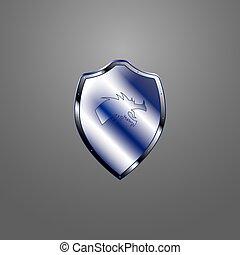 Escudo metálico
