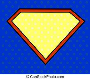 Escudo super héroe al estilo pop