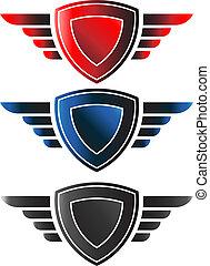 Escudos con alas