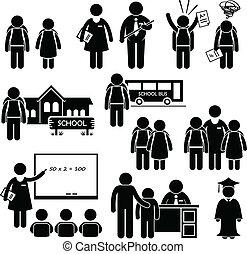 Escuela de maestros de estudiantes