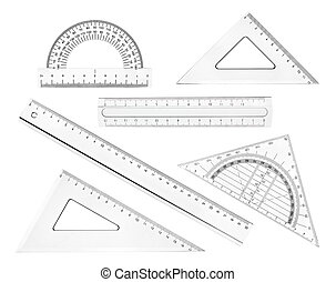 escuela, geometría, regla, plástico, educación, matemáticas