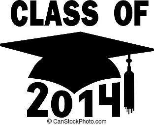 escuela, gorra, graduación, alto, colegio, 2014, clase