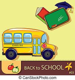 escuela, plano de fondo, colorido