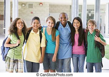 escuela primaria, clase, exterior