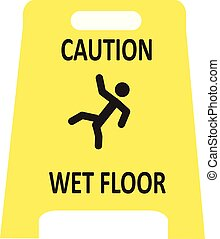 Escurridizo icono de suelo mojado