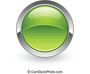 esfera, botón, verde