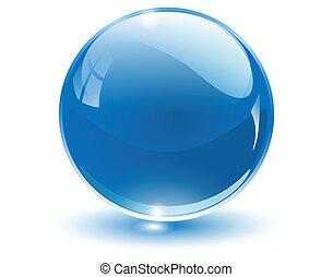 Esfera de cristal 3D