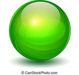 Esfera de cristal verde