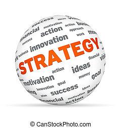 esfera de estrategia de negocios