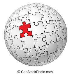 Esfera de rompecabezas