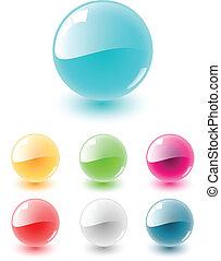Esfera de vector puesta