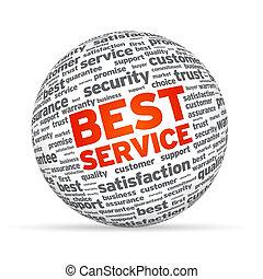 esfera, mejor, servicio, 3d