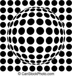 esfera, op-art