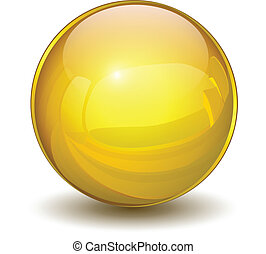 esfera, oro