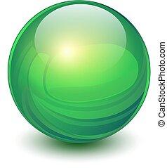 Esfera verde 3D