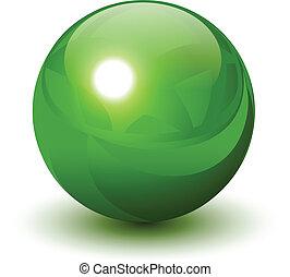 Esfera verde
