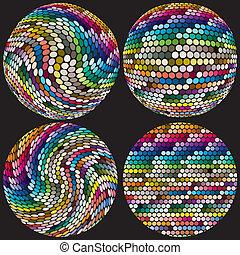 Esferas artísticas con puntos