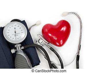 Esfigmomanómetro con corazón