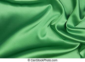 Esmeralda o fondo de seda verde