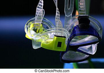 esnórquel, gafas de protección