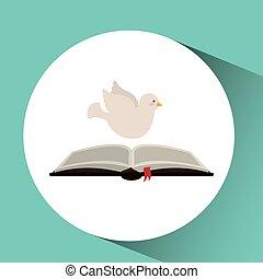 Espíritu Santo, abre la Biblia, diseño de religión